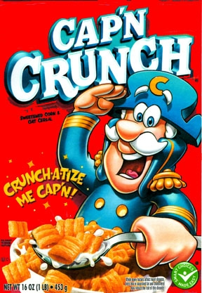 Capn Crunch Scan Printed